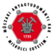 Miskolci Egyetem - Anyagtudományi Kar (BSc képzés: Anyagmérnök szak: hőkezelés és képlékenyalakítás szakirány)