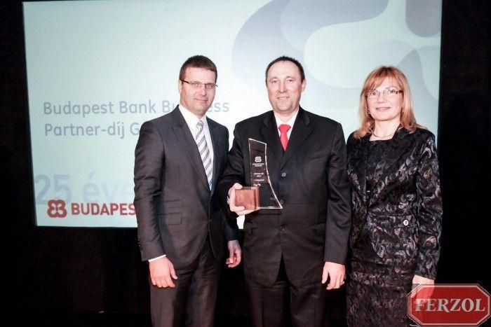 Budapest Bank Business Partner Díj átadása